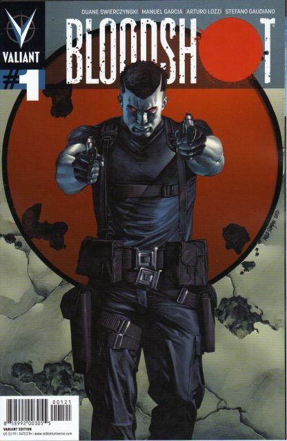 Bloodshot #1 Mico Suayan Pullbox Variant Cover B Valiant 2012