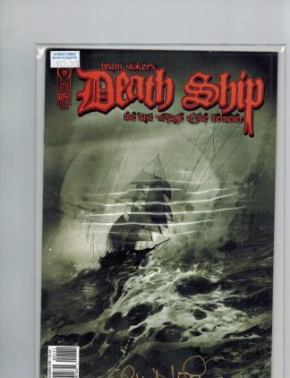 Bram Stoker's Death Ship #1 Signed Retailer Incentive Variant Cover
