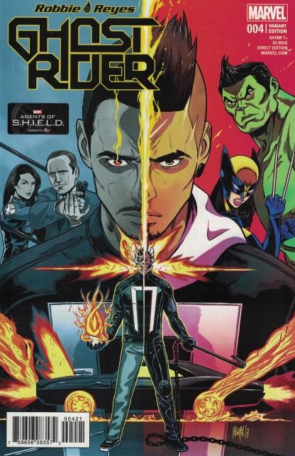Ghost Rider #4 1:25 Felipe Smith Variant Marvel 2016 Robbie Reyes