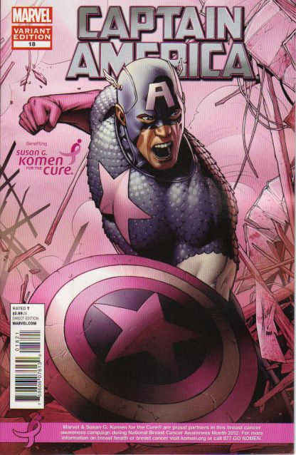 Captain America #18 Susan G. Komen For the Cure Pink Variant