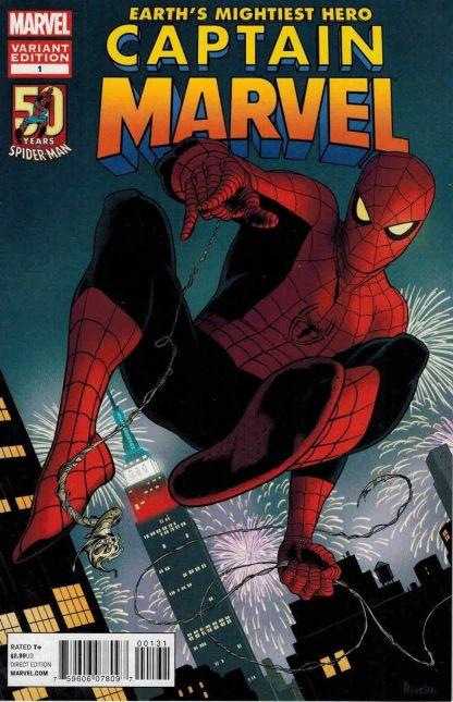 Captain Marvel #1 1st Print Paolo Rivera Avenging Spider-Man Variant 2012