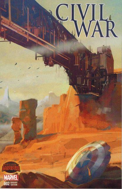Civil War #2 1:10 Alex Maleev Landscape Wraparound Variant Secret Wars SWA