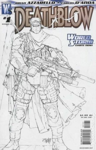Deathblow #1 Sketch Cover Variant World Storm