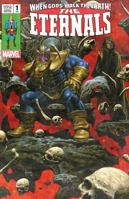 Eternals #1 Joe Jusko UC Exclusive Thanos Infinity Gauntlet Variant 2000 Copy