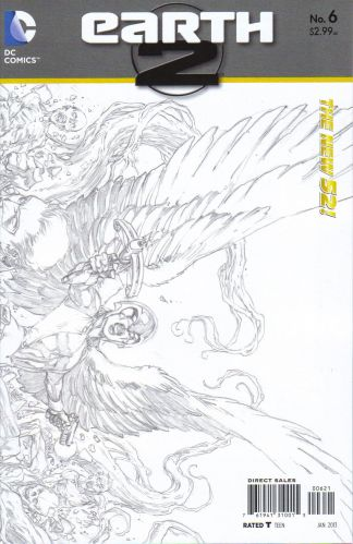 Earth 2 #6 1:25 Sketch Variant The New 52!