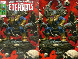 Eternals #1 Joe Jusko Ultimate Thanos Infinity Gauntlet Dress/Virgin Variant Set
