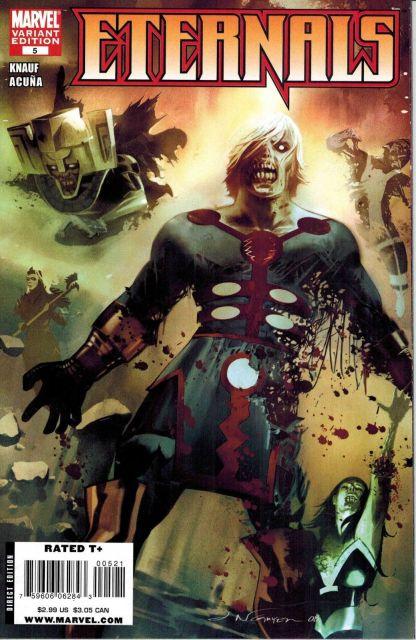 Eternals #5 1:10 Eric Nguyen Zombie Variant Marvel 2008 Ikaris