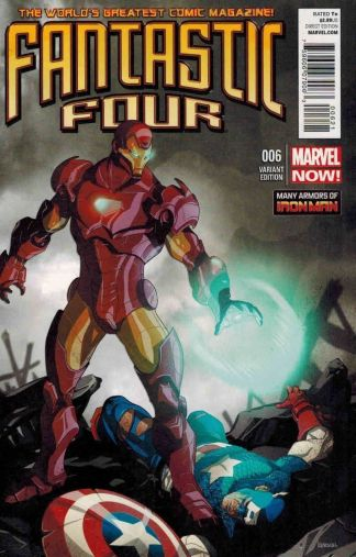 Fantastic Four #6 1:20 Many Armors of Iron Man Variant