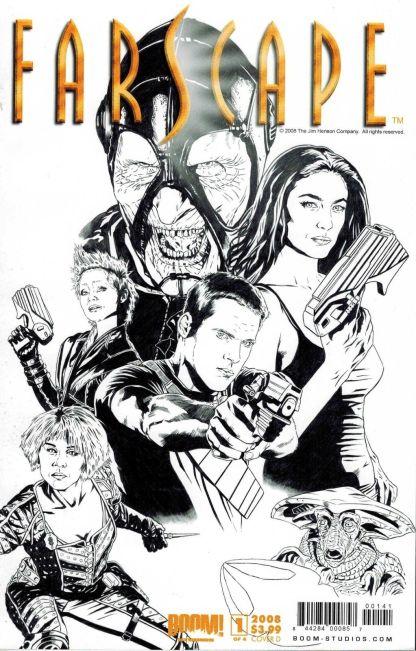 Farscape #1 Joe Corroney Black and White Sketch Variant