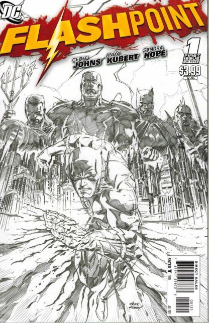 Flashpoint #1 Black and White Andy Kubert Sketch Variant