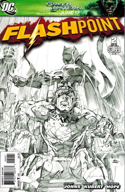 Flashpoint #2 1:25 Andy Kubert Sketch Variant DC 2011 Flash