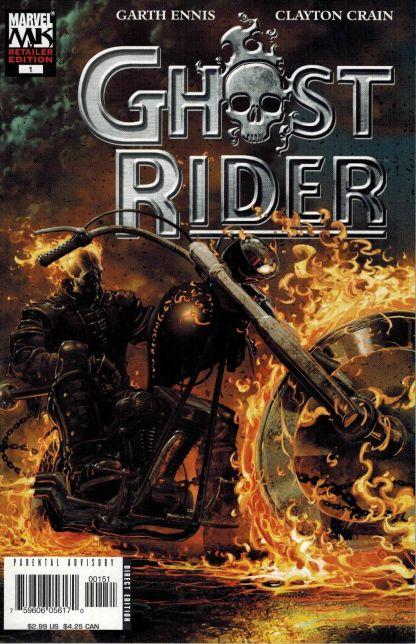 Ghost Rider #1 Clayton Crain Retailer Variant