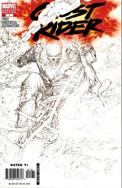 Ghost Rider #1 Marc Silvestri Sketch Variant