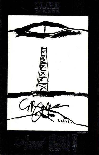 Great Secret Show #3 Clive Barker Signed Edition Sketch Variant