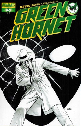 Green Hornet #3 John Cassaday Black and White Sketch Variant