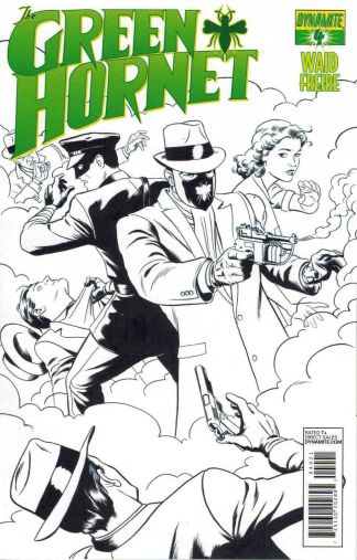 Green Hornet #4 Paolo Rivera Black and White Sketch Variant Mark Waid