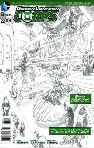 Green Lantern Corps #22 Rags Morales Black and White Sketch Cover