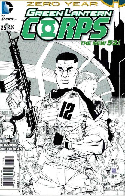 Green Lantern Corps #25 1:25 Bernard Chang B&W Sketch Variant DC 2011