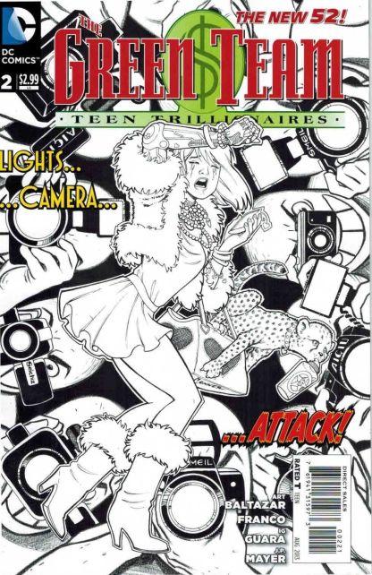Green Team #2 Amanda Conner Black and White Sketch Variant