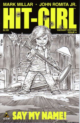 Hit-Girl #4 1:50 John Romita, Jr. Sketch Variant