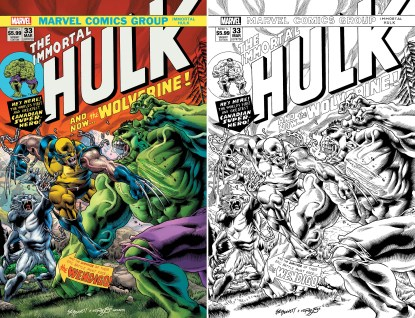 Immortal Hulk #33 Exclusive #750 250 Copy Bennett #181 Homage Sketch Variant Set
