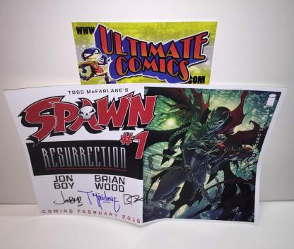 Spawn Resurrection #1 Posters Signed by Todd McFarlane Brian Wood