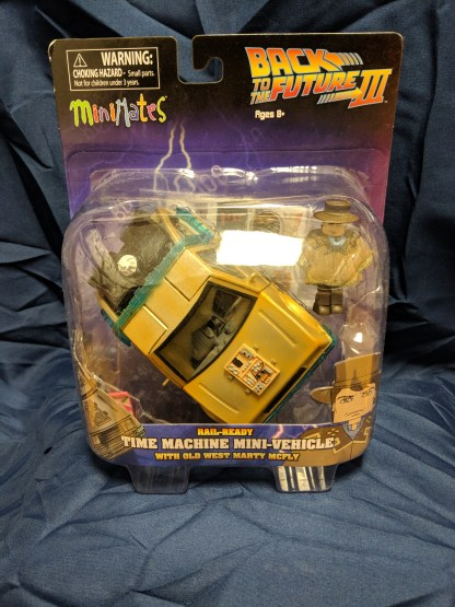 Back to the Future Mini-Mates Rail Ready Time Machine with Cowboy Marty McFly