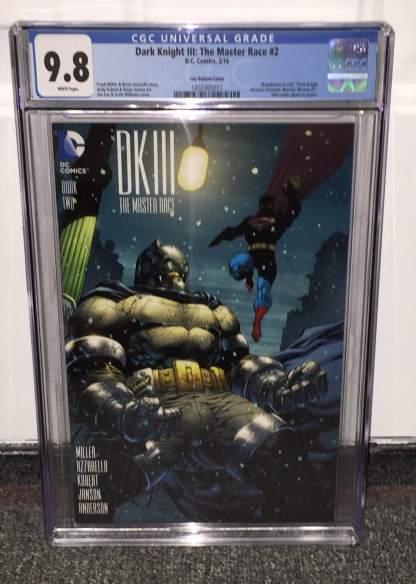 Dark Knight III Master Race #2 1:500 Jim Lee Variant CGC 9.8 DK3 Batman DC 2015