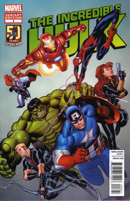 Incredible Hulk #8 Amazing Spider-Man 50th Anniversary Variant