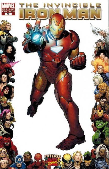 Invincible Iron Man #16 Marvel Comics 70th Anniversary Frame Variant