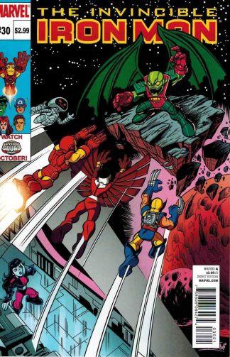 Invincible Iron Man #30 Super Hero Squad Annhilus Variant