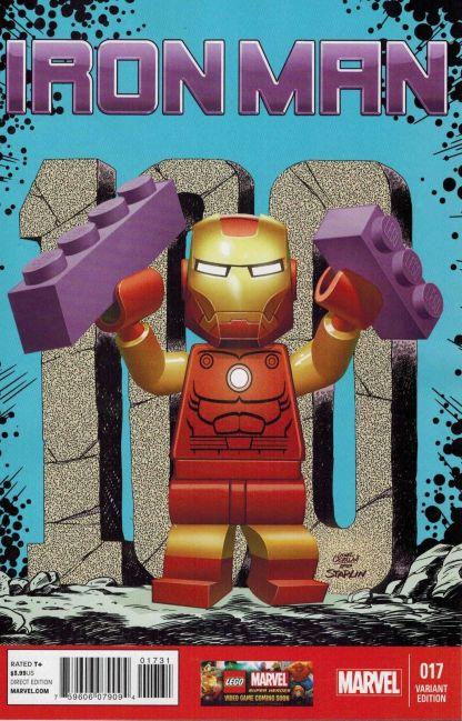 Iron Man #17 1:25 Leonel Castellani Color Lego Variant Marvel NOW 2012