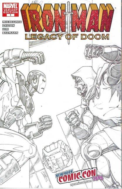 Iron Man: Legacy of Doom #1 New York Comic Con Sketch Variant