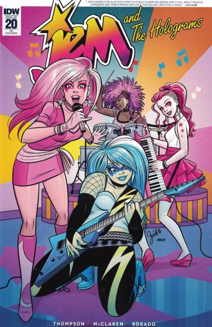 Jem and the Holograms #20 1:10 Gisele Lagace Retailer Incentive Variant RI IDW