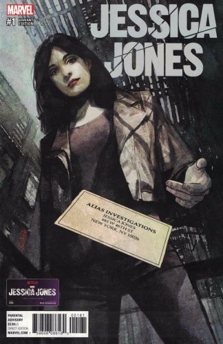Jessica Jones #1 1:50 Alex Maleev Variant NOW Marvel 2016