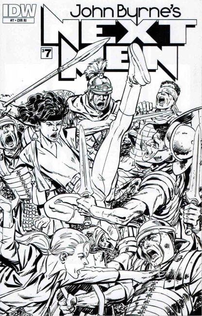 John Byrne's Next Men #7 Black and White Sketch Variant