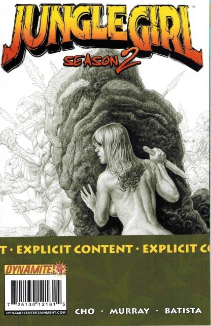 Jungle Girl Season 2 #4 Frank Cho Explicit Sketch Variant