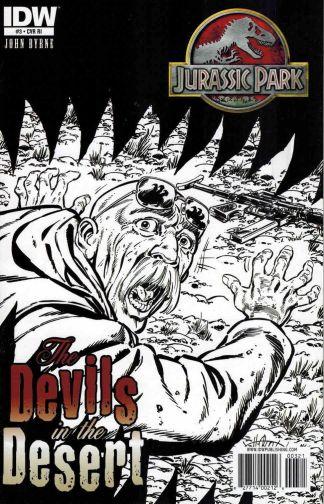 Jurassic Park: Devils of the Desert #3 Black White John Byrne Sketch Variant