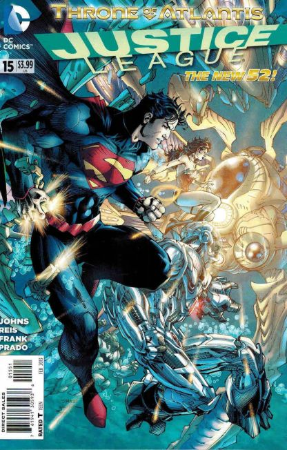 """Justice League #15 Jim Lee Variant The New 52! """"Throne of Atlantis"""""""