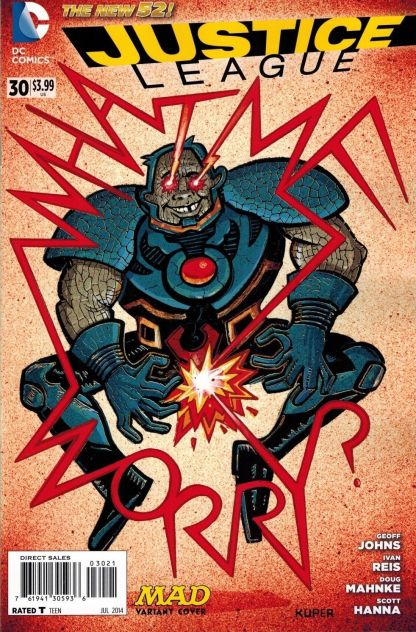 Justice League #30 1:25 Kuper Mad Variant Cover DC New 52 2011 Darkseid