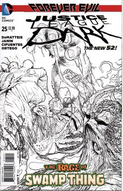 Justice League Dark #25 1:25 Black and White Sketch Variant Forever Evil