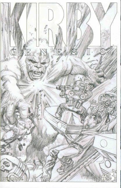 Kirby: Genesis #3 Alex Ross Black and White Sketch Variant