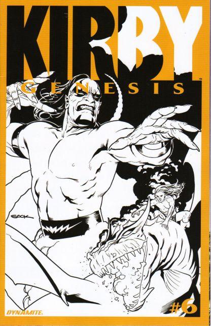 Kirby: Genesis #6 1:20 Ryan Sook B&W Variant