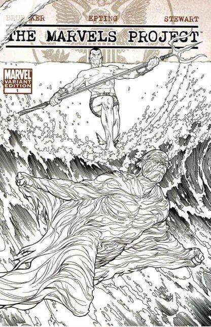 Marvels Project #1 Black and White Steve McNiven Sketch Variant