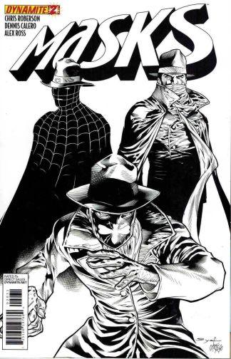 Masks #2 Ardian Syaf Black & White Variant Shadow Green Hornet Zorro Spider