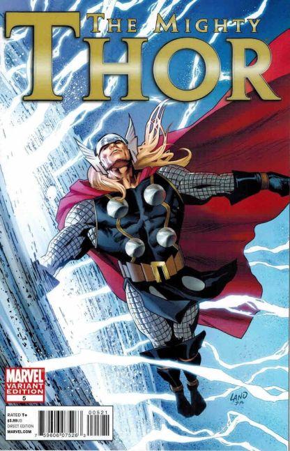 Mighty Thor #5 1:20 Greg Land Variant Marvel 2011 Matt Fraction