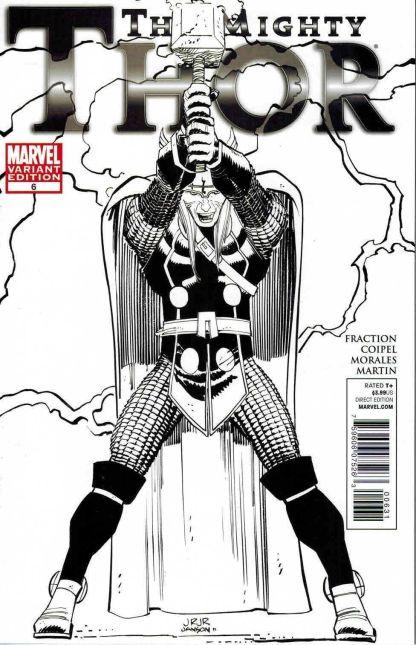 Mighty Thor #6 John Romita Jr Black and White Sketch Variant