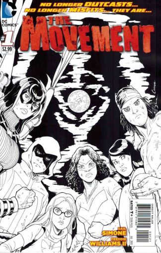 Movement #1 Black and White Sketch Variant Cover
