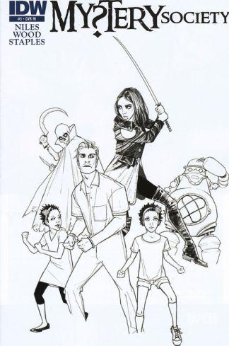 Mystery Society #5 Sketch Variant