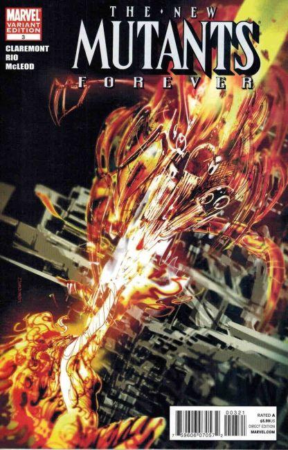 New Mutants Forever #3 Bill Sienkiewicz Variant Claremont